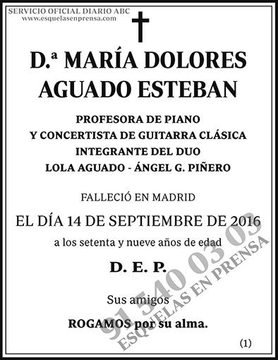 María Dolores Aguado Esteban